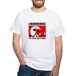 Lacrosse-DrawMan White T-Shirt