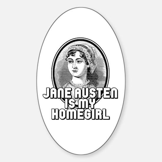 Jane Austen Sticker (Oval)