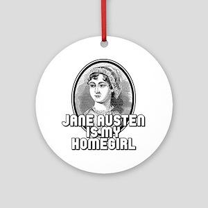 Jane Austen Round Ornament