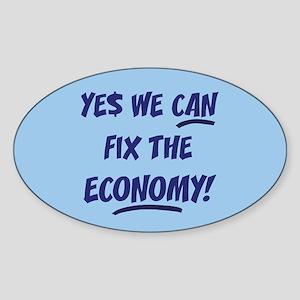 Fix The Economy Obama Oval Sticker