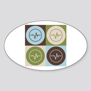 Biomedical Engineering Pop Art Oval Sticker