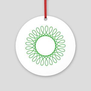 Green Spirograph Ornament (Round)