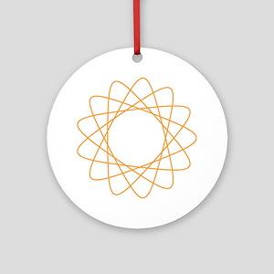 Orange Spirograph Ornament (Round)