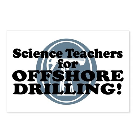 Science Teachers For Offshore Drilling Postcards (