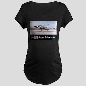 F-100 Super Sabre Fighter Maternity Dark T-Shirt