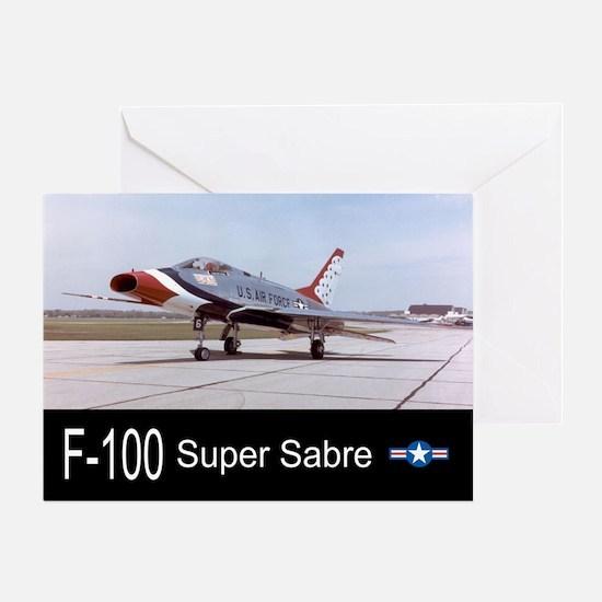F-100 Super Sabre Fighter Greeting Card