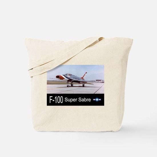 F-100 Super Sabre Fighter Tote Bag