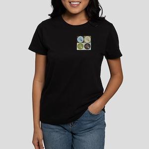 Badminton Pop Art Women's Dark T-Shirt