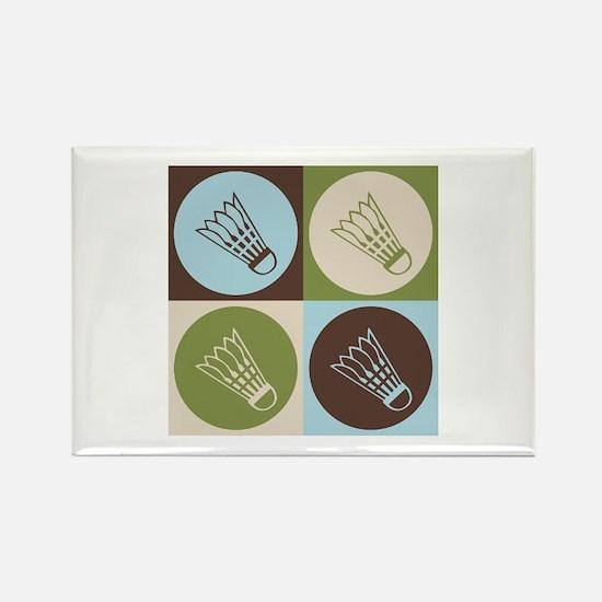 Badminton Pop Art Rectangle Magnet