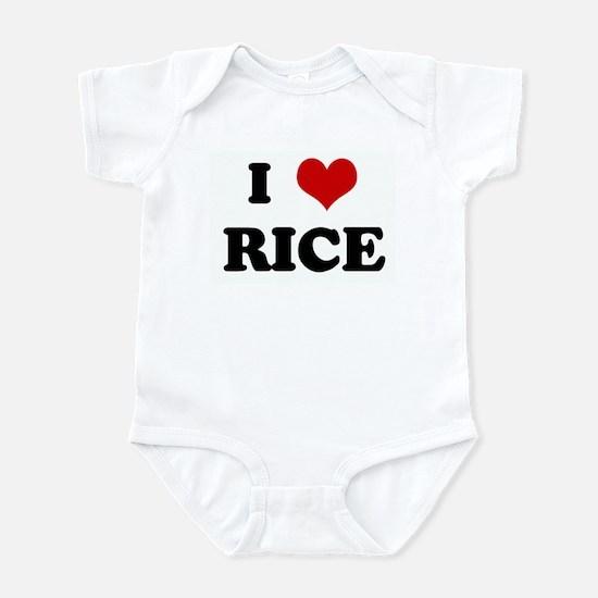 I Love RICE Infant Bodysuit