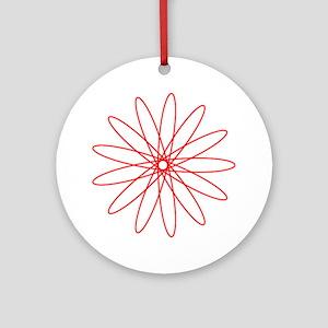 Red Spirograph Ornament (Round)