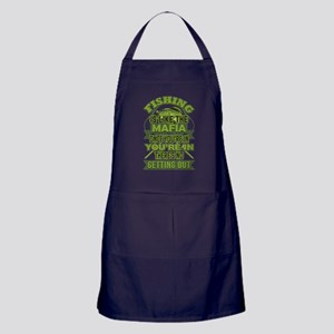 Fishing Is Like The Mafia Funny Angle Apron (dark)