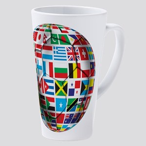 World Soccer Ball 17 Oz Latte Mug