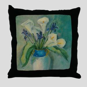 Calla Lilies Throw Pillow