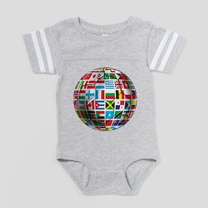 World Soccer Ball Baby Football Bodysuit