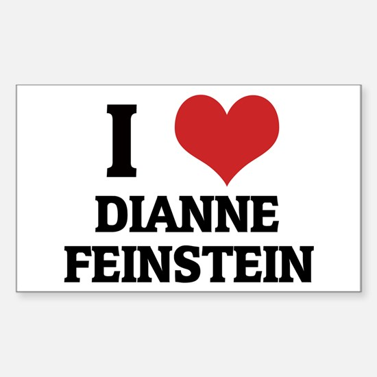 I Love Dianne Feinstein Rectangle Decal