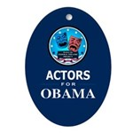 ACTORS FOR OBAMA Oval Ornament