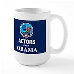 ACTORS FOR OBAMA Dark Large Mug