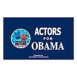 ACTORS FOR OBAMA Rectangle Sticker 50 pk)