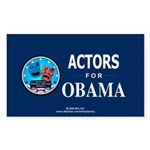 ACTORS FOR OBAMA Rectangle Sticker