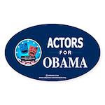 ACTORS FOR OBAMA Oval Sticker (50 pk)