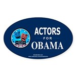 ACTORS FOR OBAMA Oval Sticker