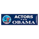 ACTORS FOR OBAMA Bumper Sticker (10 pk)