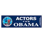 ACTORS FOR OBAMA Bumper Sticker