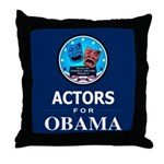 ACTORS FOR OBAMA Throw Pillow