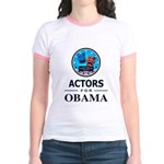 ACTORS FOR OBAMA Jr. Ringer T-Shirt