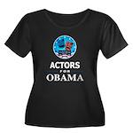 ACTORS FOR OBAMA Women's Plus Size Scoop Neck Dark
