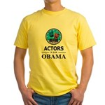 ACTORS FOR OBAMA Yellow T-Shirt