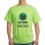 ACTORS FOR OBAMA Green T-Shirt