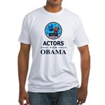 ACTORS FOR OBAMA Fitted T-Shirt