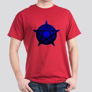 Blue Pentacle shaded Tee (Dark)