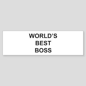 """""""World's Best Boss"""" Bumper Sticker"""