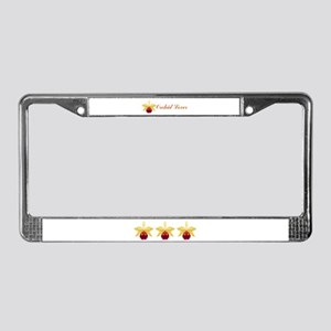 Colorful Orchids License Plate Frame