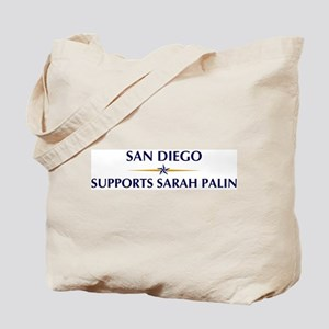 SAN DIEGO supports Sarah Pali Tote Bag