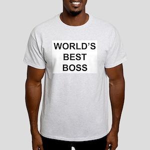 """""""World's Best Boss"""" Light T-Shirt"""