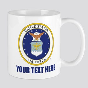 U.S. Air Force Emblem Personalized Mug