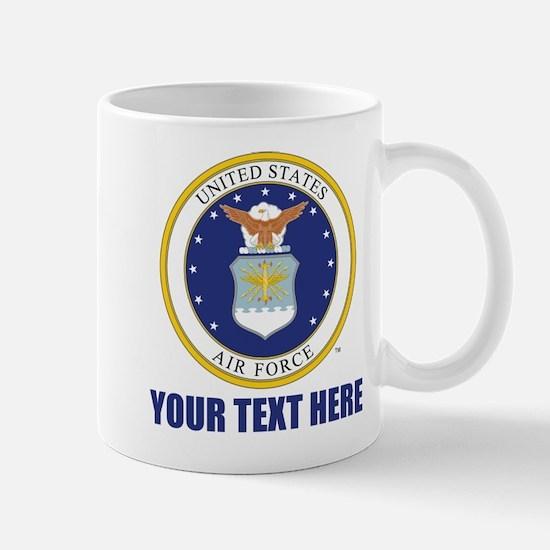 U.S. Air Force Emblem Personalized Mug