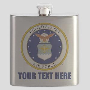 U.S. Air Force Emblem Personalized Flask