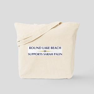 ROUND LAKE BEACH supports Sar Tote Bag