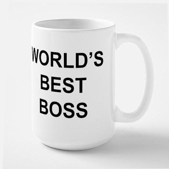 """World's Best Boss"" Large Mug"