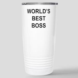 """""""World's Best Boss"""" Stainless Steel Travel Mug"""