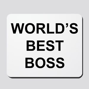 """World's Best Boss"" Mousepad"