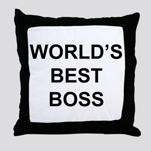 """World's Best Boss"" Throw Pillow"
