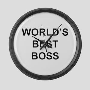 """World's Best Boss"" Large Wall Clock"