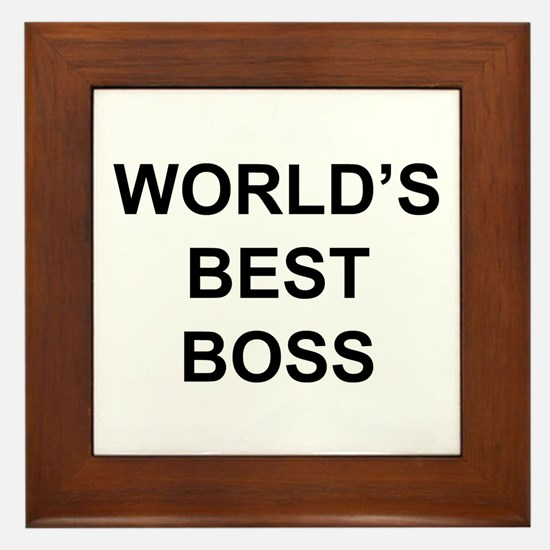 """""""World's Best Boss"""" Framed Tile"""