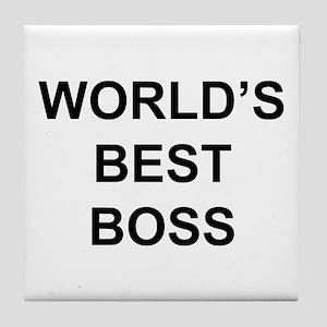 """""""World's Best Boss"""" Tile Coaster"""